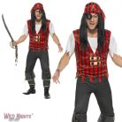 FANCY DRESS ACCESSORY # ADULT PIRATE RED & BLACK INSTANT DRESS UP KIT
